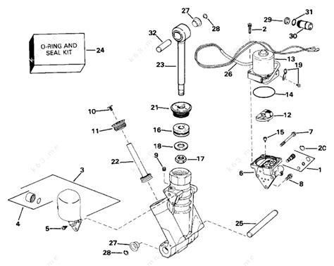 Johnson 1993 90 Vj90tlats Power Trim Tilt Hydraulic