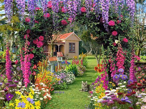 Flower Garden Background Flower Garden Backgrounds Wallpaper Cave