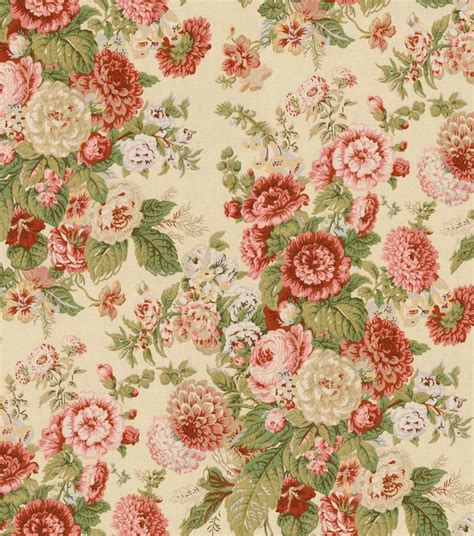 home decor print fabric waverly floral flourish clay jo ann 878 best the wallpaper fabric cottage images on