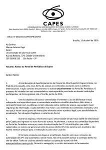 Mudança no Acesso aos Periódicos da Capes - AGUIA