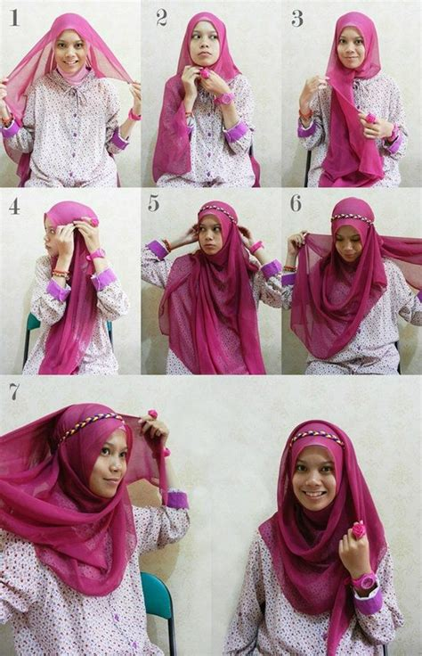 tutorial hijab simple daily new hijab tutorial pictures simple daily wear styles