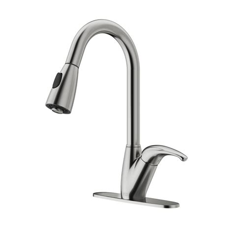 shop vigo harrison stainless steel 1 handle deck mount vigo romano single handle pull down sprayer kitchen faucet