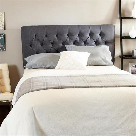 humble and haute hton charcoal gray tufted headboard