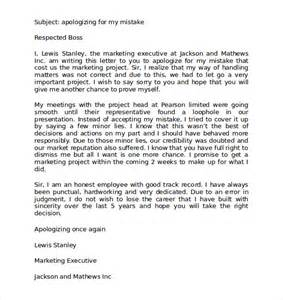 Professional Apology Letter To Customer Professional Apology Letter 9 Free Documents In Pdf Word
