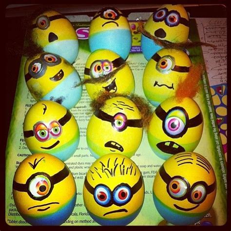 painted eggs pinterest hand painted minion easter eggs easter egg decorating