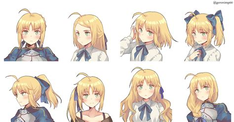 [Fanart][Fate] Saber in a ponytail : anime