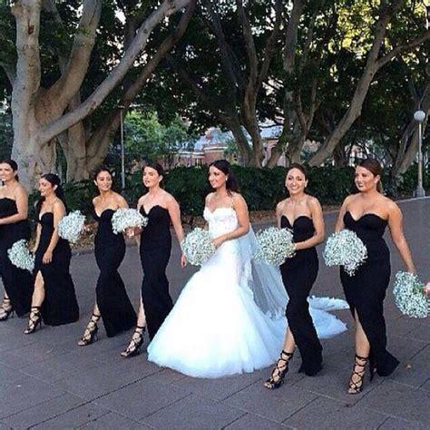 best 25 black bridesmaid dresses ideas on