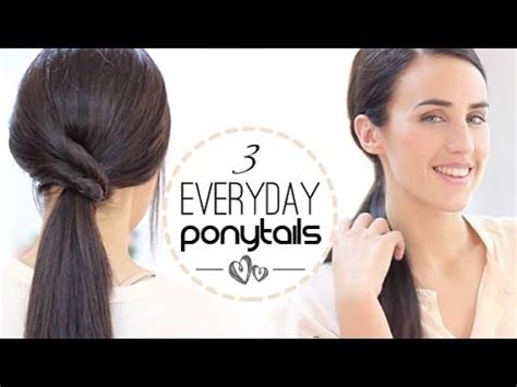 party hairstyles for short hair youtube easy everyday ponytalis youtube