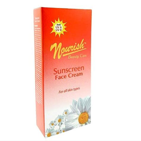 Wajah Nourish jual nourish care sunscreen spf 35 sunblock untuk wajah di lapak saran sehat