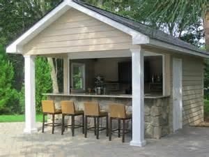Custom outdoor bar plans