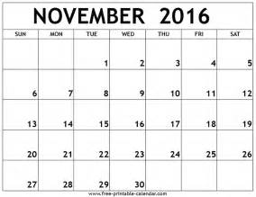 November calendar 2016 portrait template template