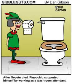 Bathroom Jokes Pinnochio Bathroom Attendant