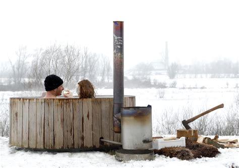 Wood Fired Bathtub by Wood Fired Tub Iconic Dutchtub Heats Organically Captivatist
