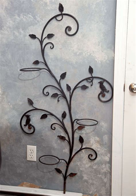 Wrought Iron Wall Planter by Decorative Wrought Iron Wall Planter Tree At 1stdibs