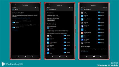 backup mobile guida completa al backup di windows 10 mobile