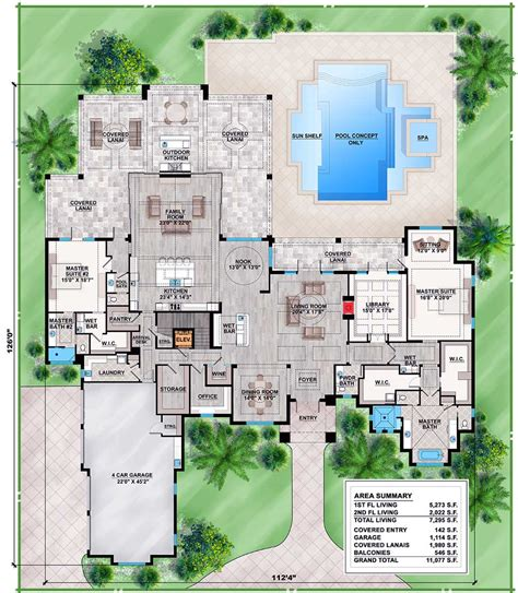 Florida House Floor Plans by Spacious Contemporary Florida House Plan 86025bw