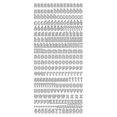 Sticker Buchstaben Silber by Sticker Kleinbuchstaben Schreibschrift Silber