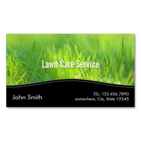 Lawn Service Business Card Template by Stylish Green Lawn Care Business Card I This
