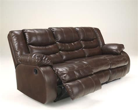 linebacker durablend espresso  pcs double reclining sofa