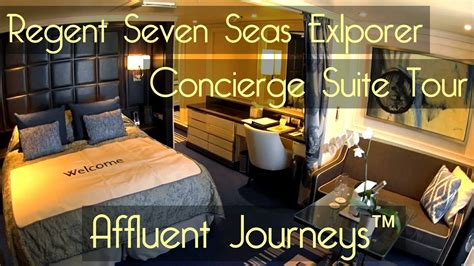 seven room tour regent seven seas explorer concierge suite tour