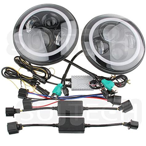 Jeep Tj Headlight Assembly Suitech Sui Projector02 Jeep Wrangler Headlights Led
