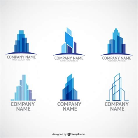 construction company logo templates vector free download