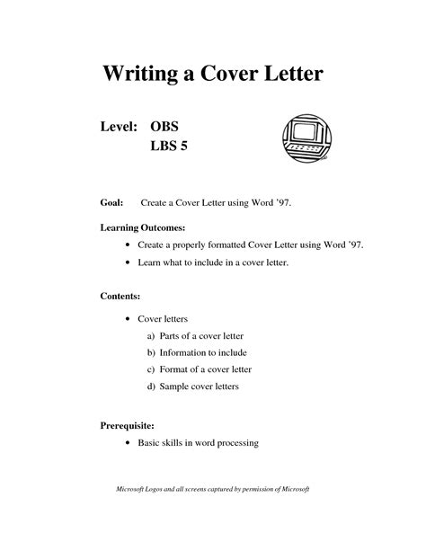 what does cover letter mean project scope template