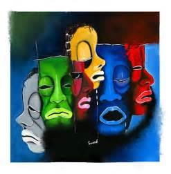 shoelace designs emotions poster colour painting