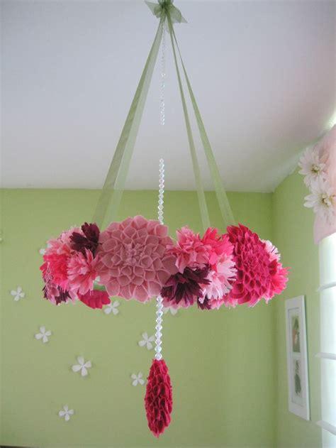 Flower Crib Mobile by Fabric Flower Wreath Mobile Modern Crib Moblile Felt Fl