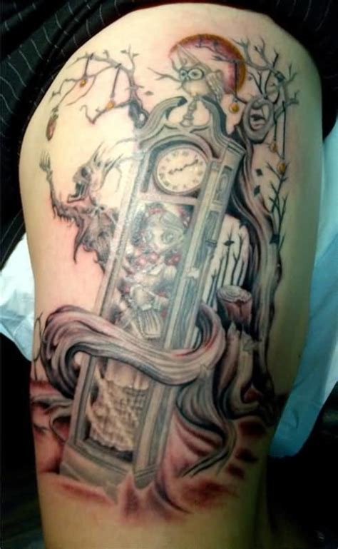 grandfather clock tattoo designs clock ideas and clock designs