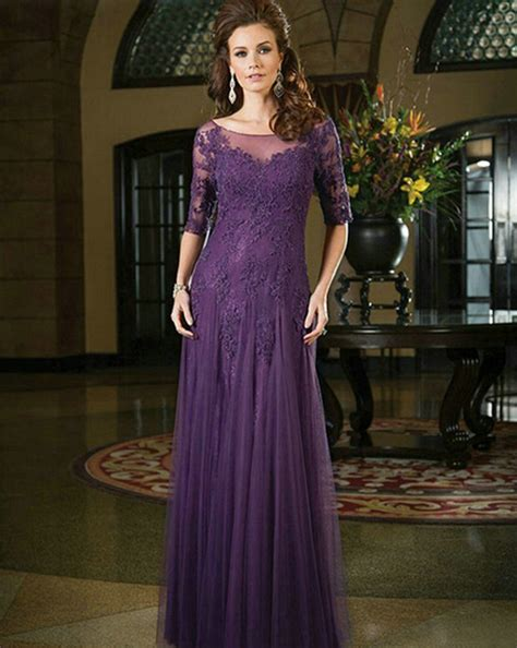 by color cheap prom dresses 2016 mother of bride gown 2016 spring fall mother of the bride dress with half