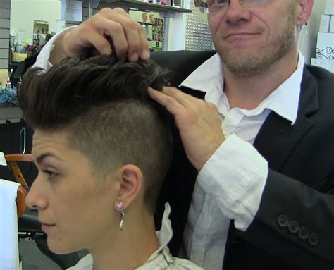 barber haircuts for women short sexy shaved womans haircut video pink inspired youtube