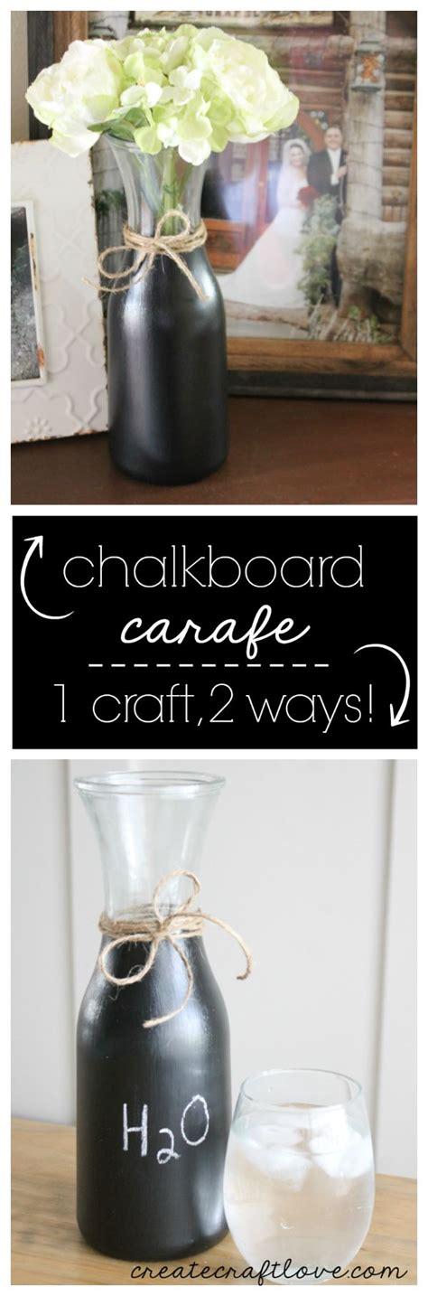 chalkboard paint uneven diy chalkboard carafe