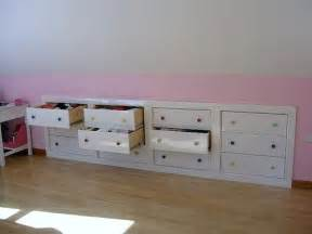drawers in knee wall craft room ideas