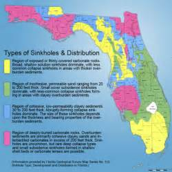 florida geological survey sinkhole map florida sinkhole why is florida prone to large sinkholes