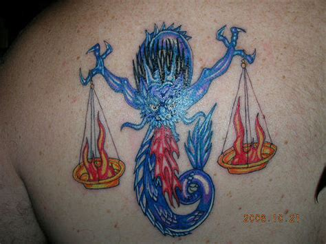Unique Libra Tattoo On Back Libra Zodiac Tattoos Designs