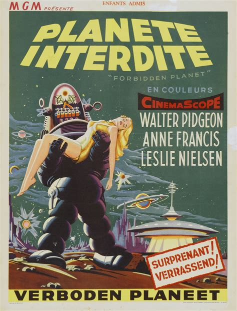 Watch Forbidden Planet 1956 Full Movie Poster For Forbidden Planet 1956 Usa Wrong Side Of The Art