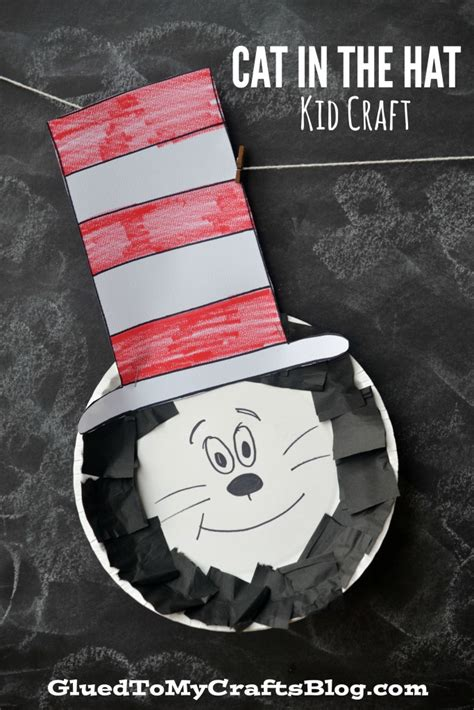 Cat In The Hat Paper Plate Craft - paper plate dr seuss cat in the hat kid craft