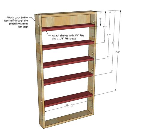diy wooden door spice rack white build a door spice rack free and easy diy project and furniture plans country