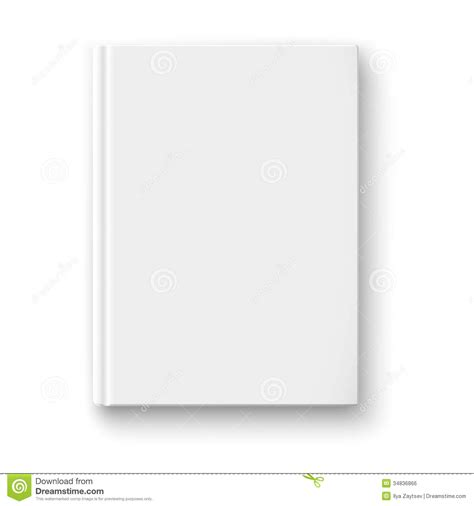 Blank Book Template With Soft Shadows Stock Vector Illustration Of Brochure Copybook 34836866 Book Template