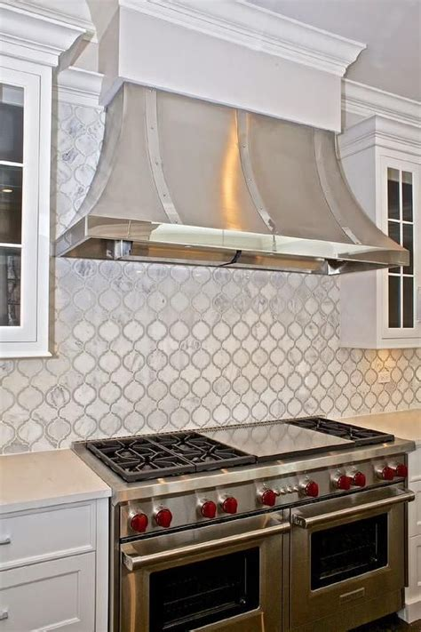 Moroccan Tile Kitchen Backsplash Beautiful Kitchen Features A Stainless Steel Kitchen Stands A White Moroccan