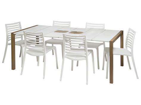 fauteuil exterieur 1111 salon de jardin quot sunday quot 1 table blanc bois 8
