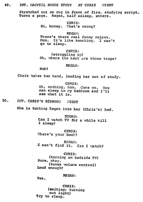 The Exorcist Film Script | behind the exorcist