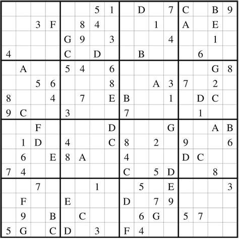 Printable Sudoku 16x16 Numbers | sudoku 16x16 new calendar template site
