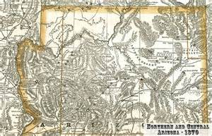 a map of northern arizona from 1870 maps