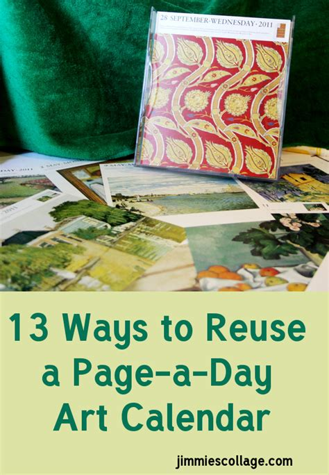 thirteen ways to reuse a page a day art calendar