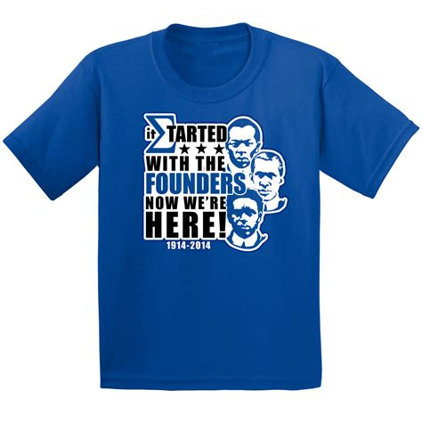 T Shirt Founder Ngehits phi beta sigma started with the founders t shirt royal blue dtg