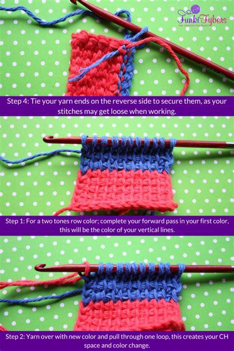 crochet color change tunisian color changes kristyn crochets