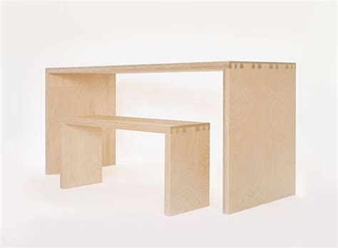 chunky plywood bedside table by soap designs simone table and bench dining tables better living