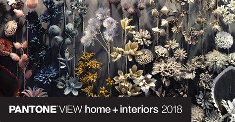pantone view home interiors  color palettes